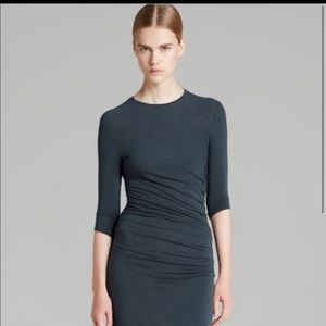 Helmut Lang green rouched dress SIZE P